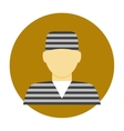 Criminal avatar flat icon vector image