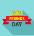 crown friends day logo flat style vector image vector image