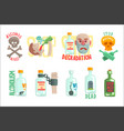 dangers and risk from alcohol set alcoholism vector image vector image