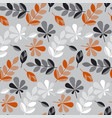 decorative fall leaves seamless pattern vector image