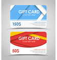 Design of gift cards in style of material design vector image