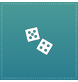 dice flat icon vector image vector image