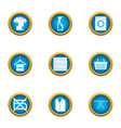 dirt icons set flat style vector image vector image
