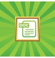 DOC file picture icon vector image vector image