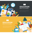 education and back to school banner concept vector image vector image