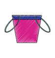fishing bucket isolated vector image vector image
