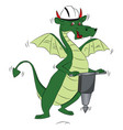 fly dragon using a power jackhammer vector image