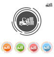 forklifts icon in a flat style vector image