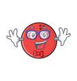 geek bowling ball character cartoon vector image vector image