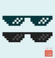 glasses icon isolated vector image vector image