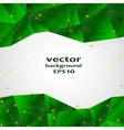 Green crystal abstract pattern Business Design vector image