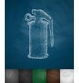grenade icon vector image vector image