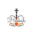 hookah relax label badge vintage shisha logo vector image vector image