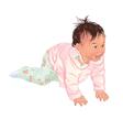 Little asian girl vector image vector image