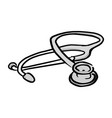 medical stethoscope sketch hand vector image vector image