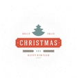 Merry Christmas Greeting Card Typography and vector image vector image