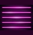 modern neon glowing lines banner on dark empty vector image vector image