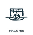 penalty kick icon mobile apps printing and more vector image