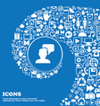 People talking icon sign Nice set of beautiful vector image vector image
