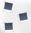 Photo frames for infographic on paper in a cage vector image
