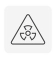radiation icon black vector image