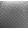 Rain transparent template background EPS 10 vector image
