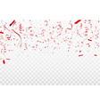 red confetti concept design template happy vector image vector image