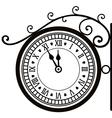 retro street clock vector image vector image