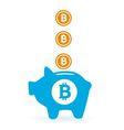 saving bitcoin vector image vector image