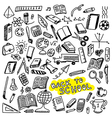 School icons sketch vector image