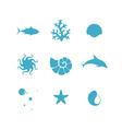 Sea Icon set vector image