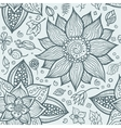 seamless hand-drawn floral pattern vector image vector image