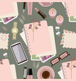 seamless pattern withl diary on table womens vector image vector image