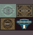 set of old cards vector image vector image