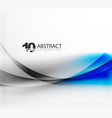 smooth wave template vector image vector image
