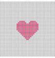Square with grey circles and red heart vector image vector image