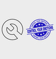 stroke repair wrench icon and distress vector image vector image