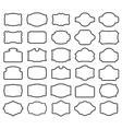 Thirty blank labels vector image
