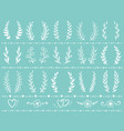vintage wreath set vector image vector image
