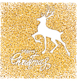 white deer on gold vector image vector image