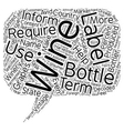 Wine Labels Decoded text background wordcloud vector image