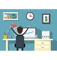 work space with businessman vector image vector image