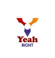 y letter icon for yeah right design vector image vector image