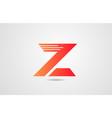 z orange alphabet letter logo icon design vector image vector image