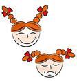 Cartoon girls face eps10 vector image