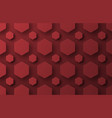 design a background with flying red hexagons of vector image