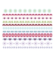Set of decorative lines borders dividers vector image
