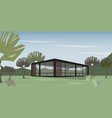 modern house in nature vector image