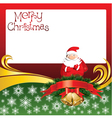 2012 christmas card with jingle bells and santa cl vector image vector image