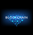 abstract blockchain concept banner vector image vector image